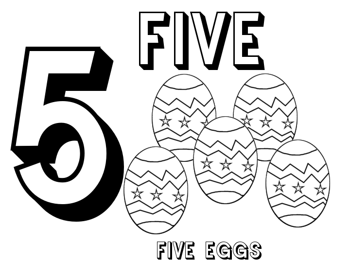 Number 5 Coloring Page at GetDrawings.com | Free for ...
