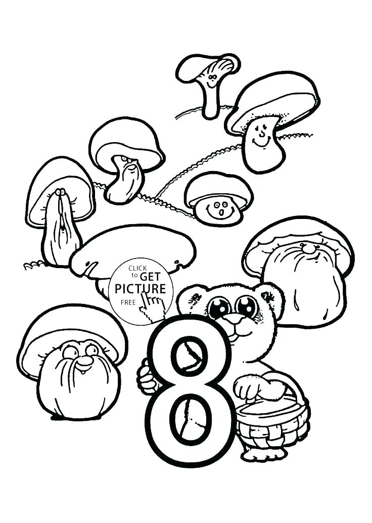 736x1034 Number Coloring Page Number Coloring Page Counting Coloring