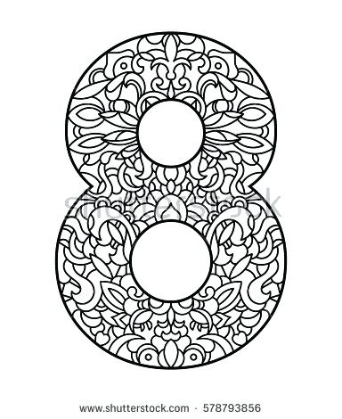 384x470 Number Coloring Page Number Coloring Page Math Coloring Pages