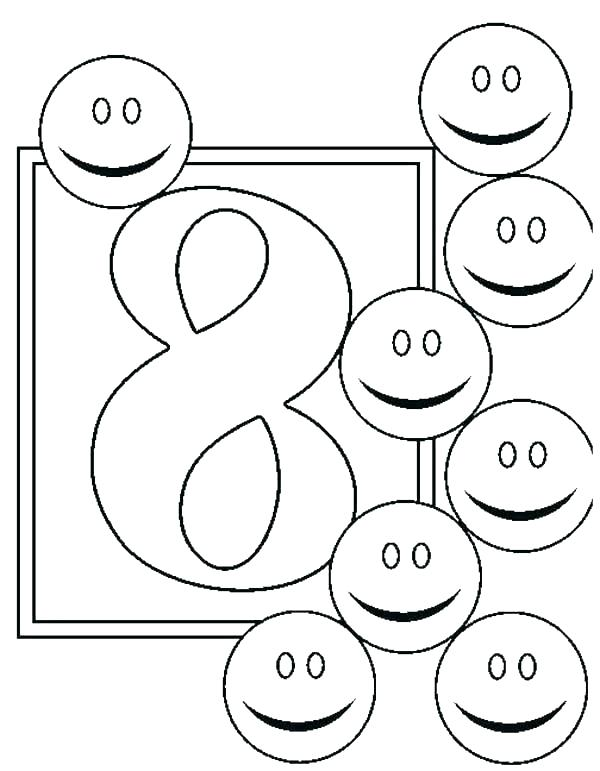 600x771 Number Coloring Page Number Coloring Pages Number Coloring