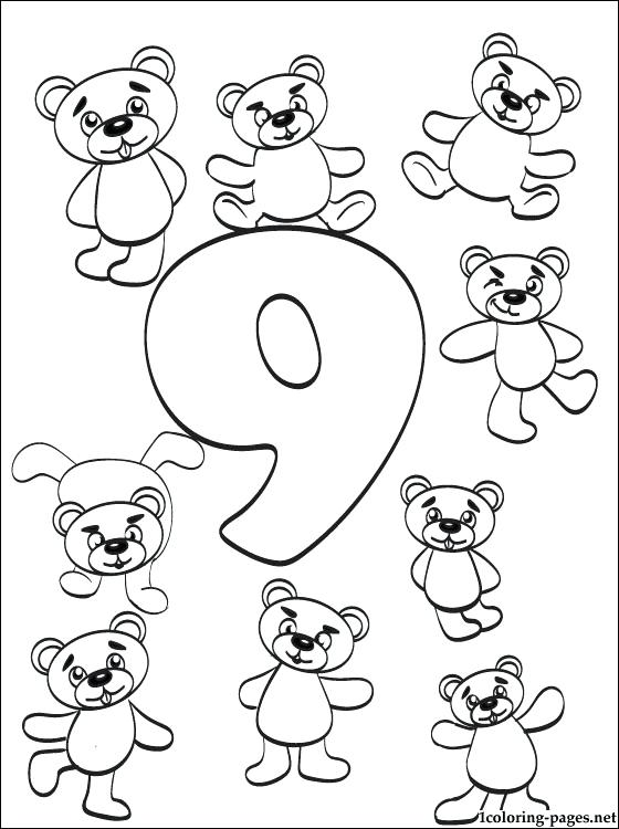 560x750 Number Coloring Page Number Nine Coloring Page Number