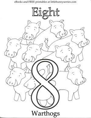 300x388 Number Coloring Page Pdf Printables For Preschool
