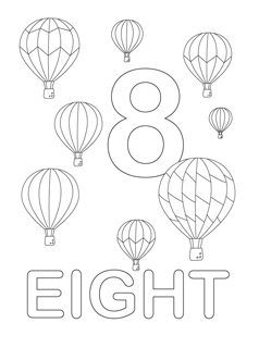 238x320 Number Coloring Pages Printable