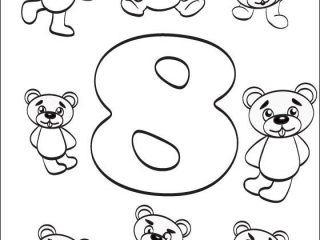 320x240 Number Coloring Pages Number Eight Coloring Page Coloring