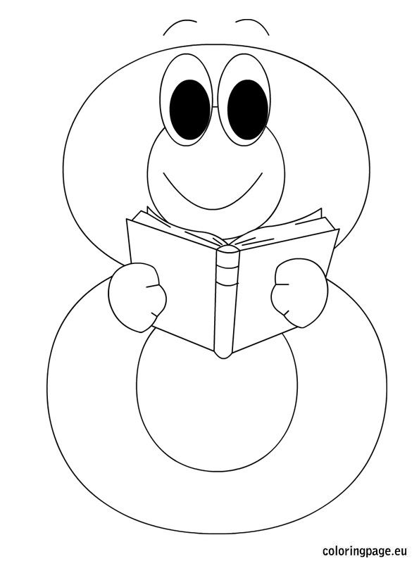 595x804 Numberjacks Colouring Pages Number Eight Coloring Page Printable