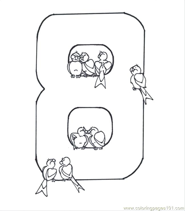 650x741 Number Coloring Page Coloring Pages Number Eight Coloring Page