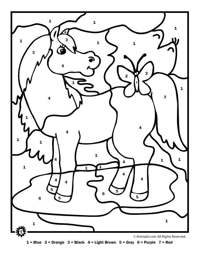 Number By Number Coloring Pages