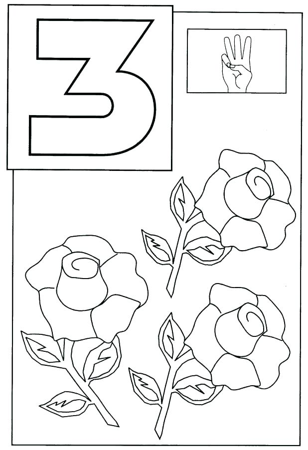 618x903 Number Coloring Page Coloring Pages Numbers Plus Number Number
