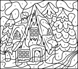 256x226 Christmas Coloring Pages