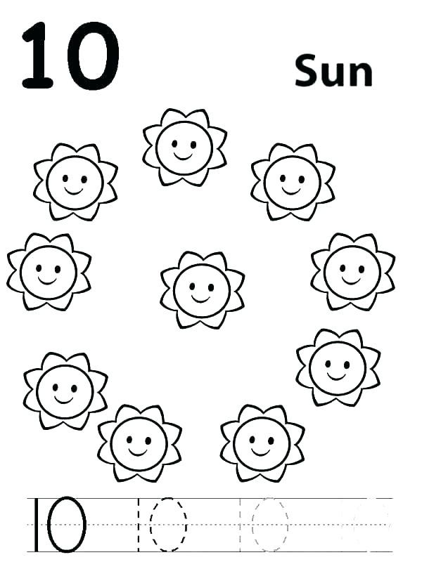Number Coloring Pages 1 10 At Getdrawings Com Free For Personal