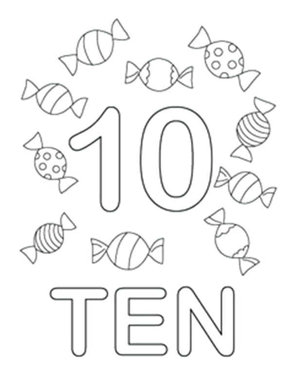 33 Number Coloring Pages 1 10 - Free Printable Coloring Pages
