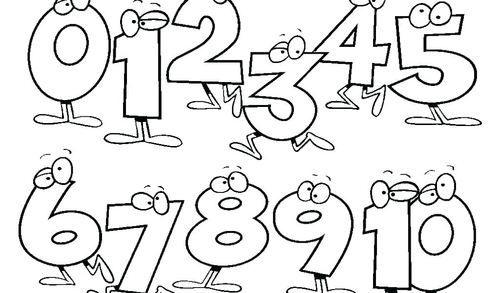 1024x600 Number Coloring Pages Coloring Pages Of Numbers Numbered