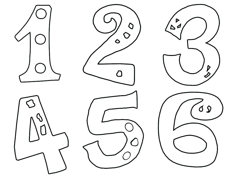 974x753 Number Coloring Page Number Coloring Page Coloring Pages