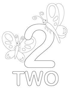 238x320 Number Coloring Pages