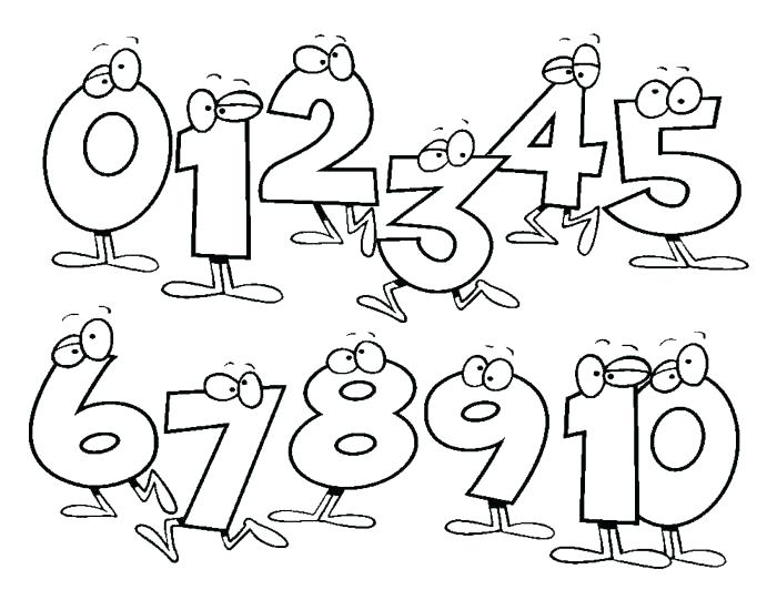 700x541 Number Coloring Pages Pdf Numbers Coloring Pages Numbers