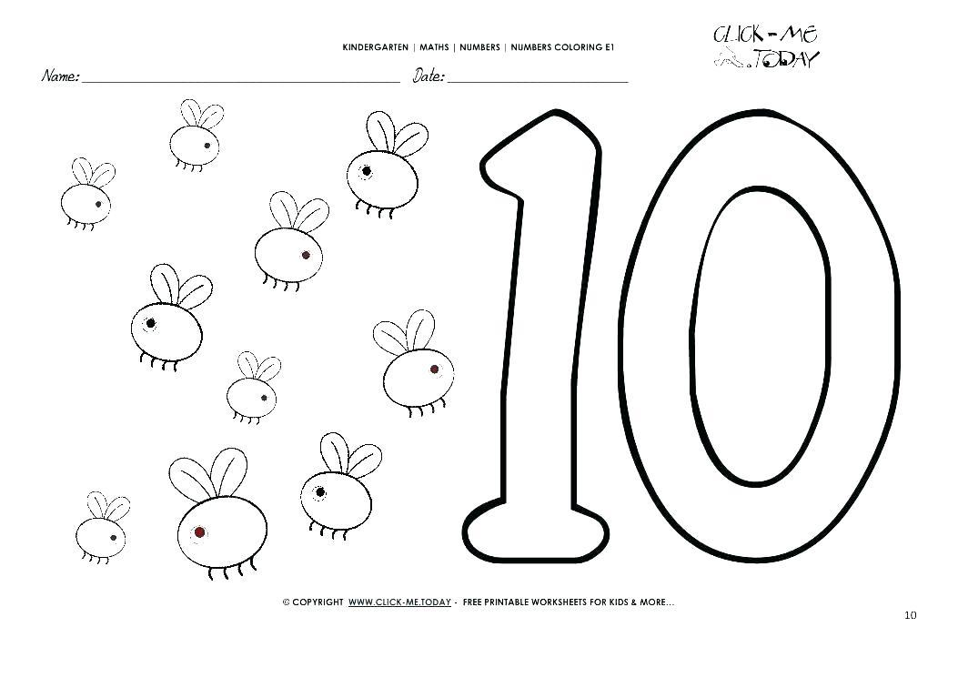 1053x745 Number Coloring Pages Number Coloring Pages Number