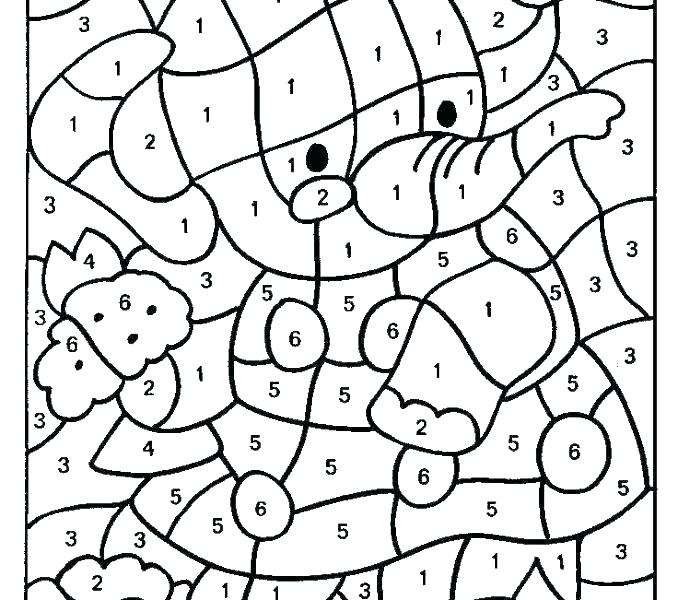 678x600 Numbers Coloring Pages To Print Color