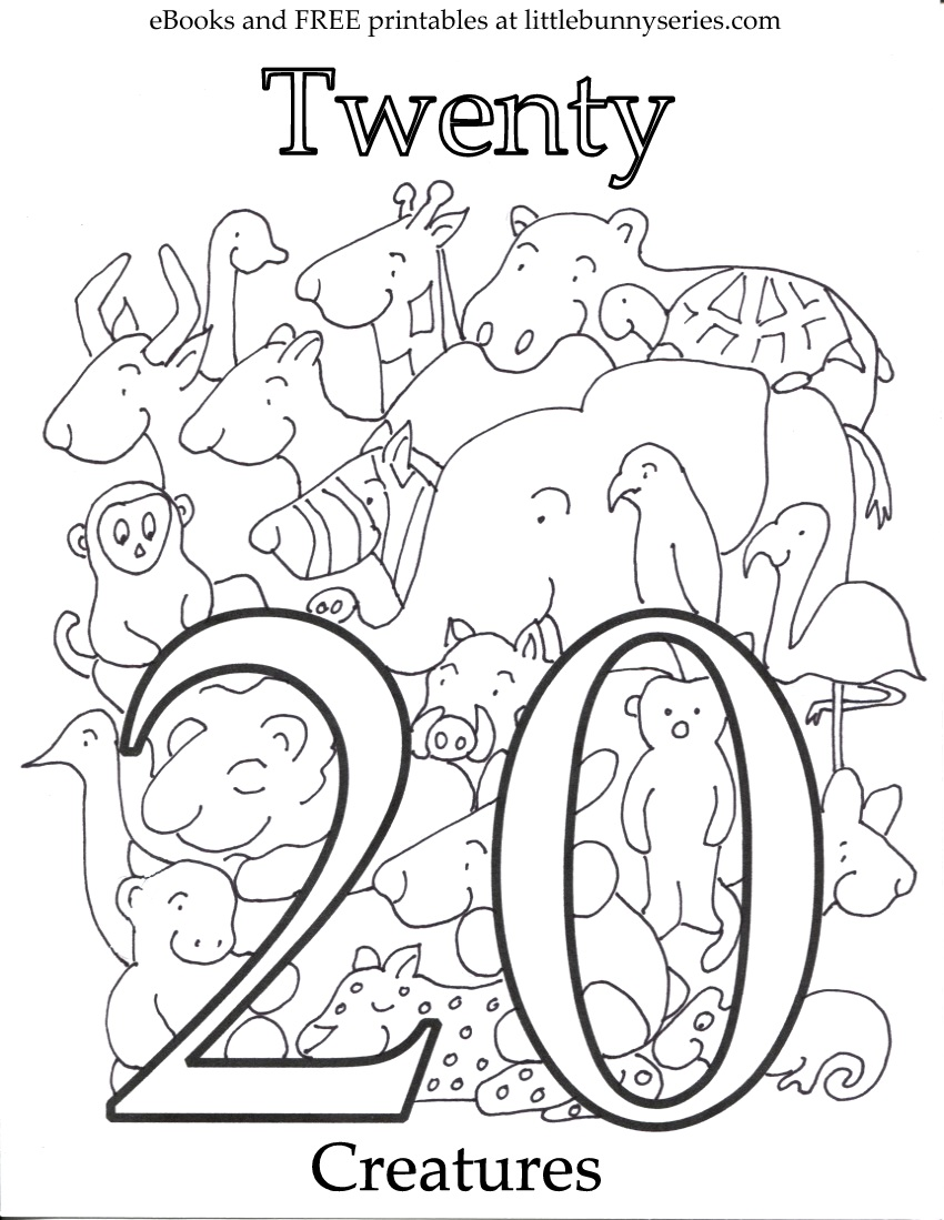 850x1099 Revealing Number Coloring Pages Pdf Little Bunny Series