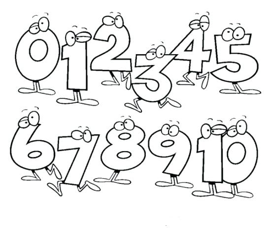 550x504 Coloring Pages Numbers Coloring Pages With Numbers Photos