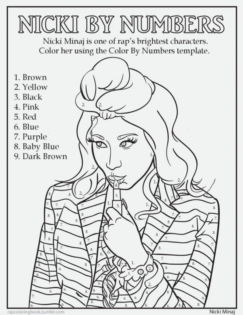 791x1024 Number Coloring Pages For Adults