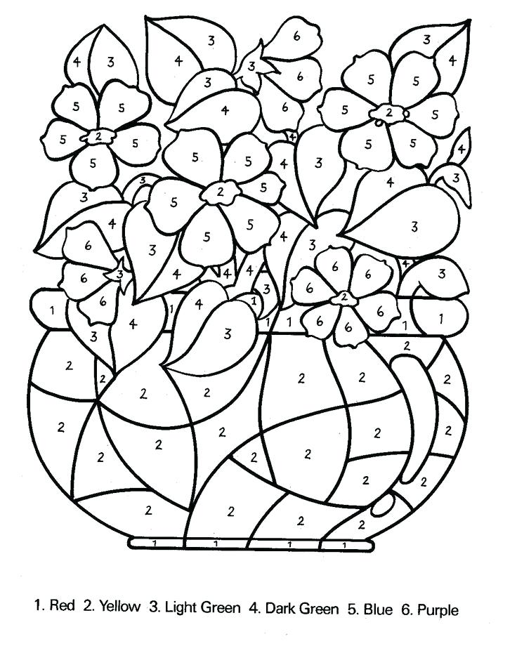 736x920 Number Coloring Pages For Adults