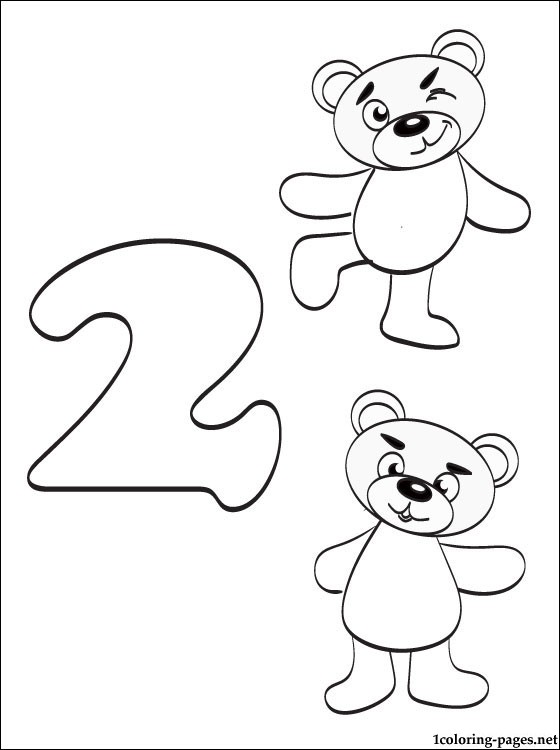 Number Coloring Pages For Kindergarten at GetDrawings ...