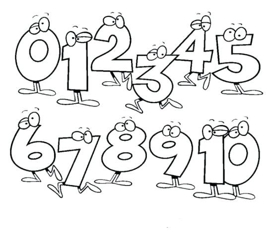 550x504 Coloring Number Number Coloring Page Number Coloring