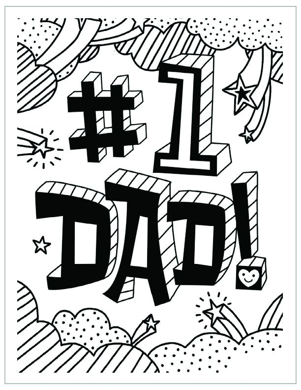 612x792 Fathers Day Coloring Page Number One Dad Fathers Day Coloring