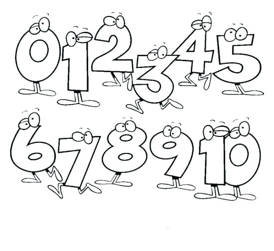 550x504 Number To Color Number One Coloring Page Activities Color Number