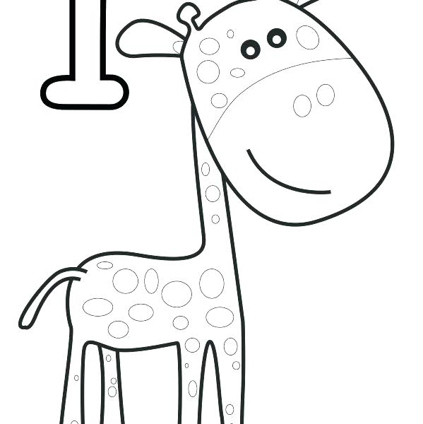 599x600 Number One Coloring Page One Tall Giraffe Help Your Practice