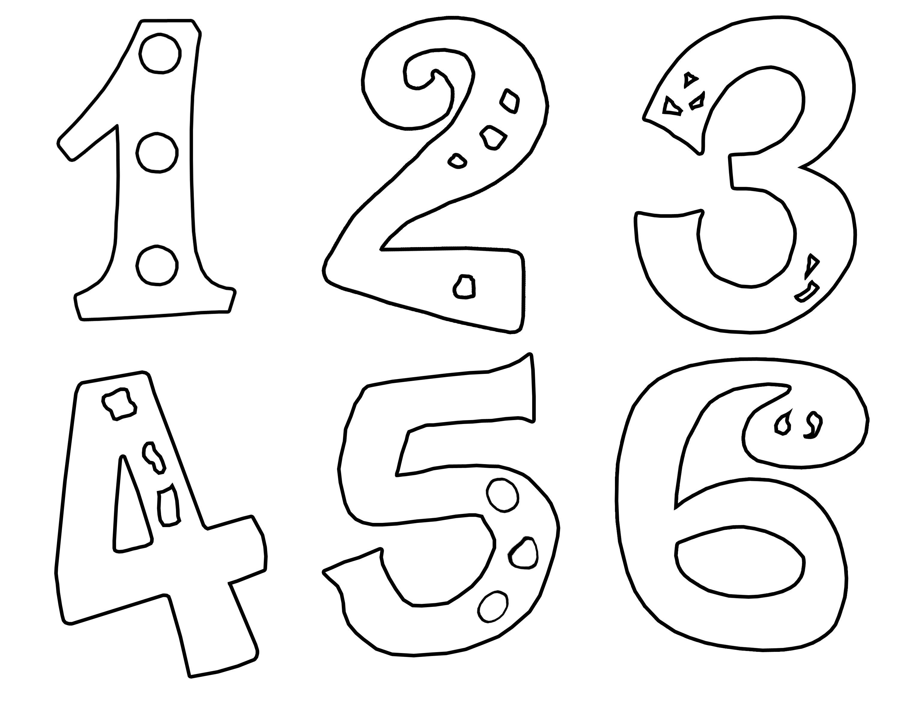 Numbers For Coloring Pages