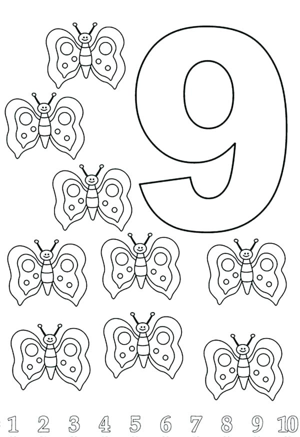 600x874 Number Coloring Page Number Coloring Page Number Coloring Pages