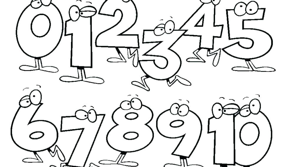 Numbers For Coloring Pages At Getdrawings Free Download