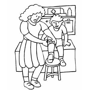 Nurse Coloring Pages
