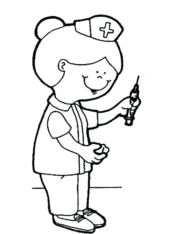 579x777 Nurse Coloring Pages Printable Nurse Pictures For Kids Coloring