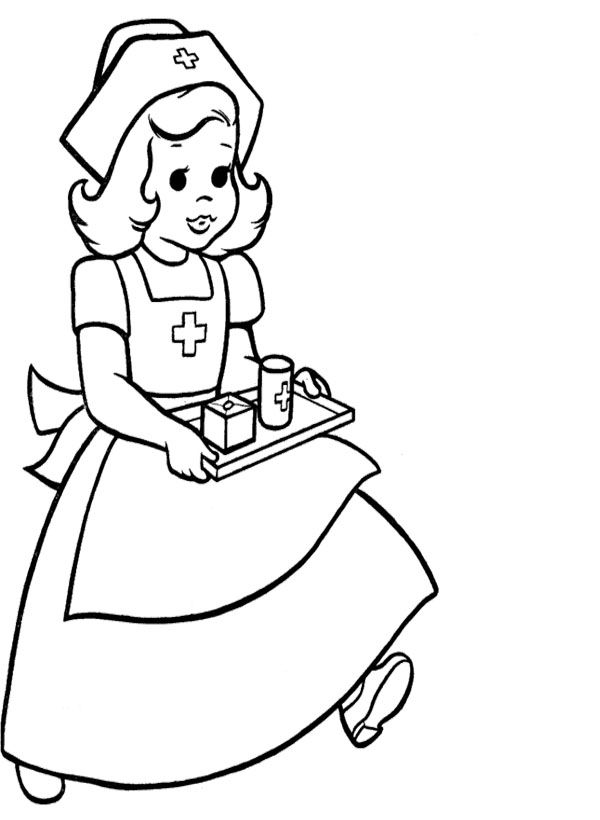 600x820 Careful Nurse Coloring Pages Things I Love