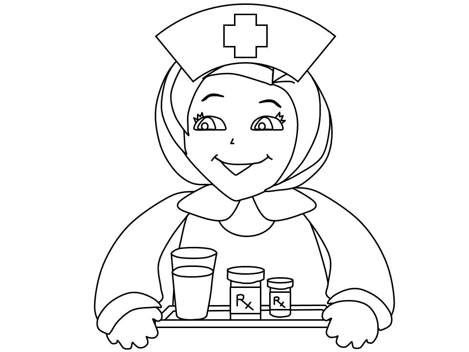 960x720 School Nurse Coloring Pages