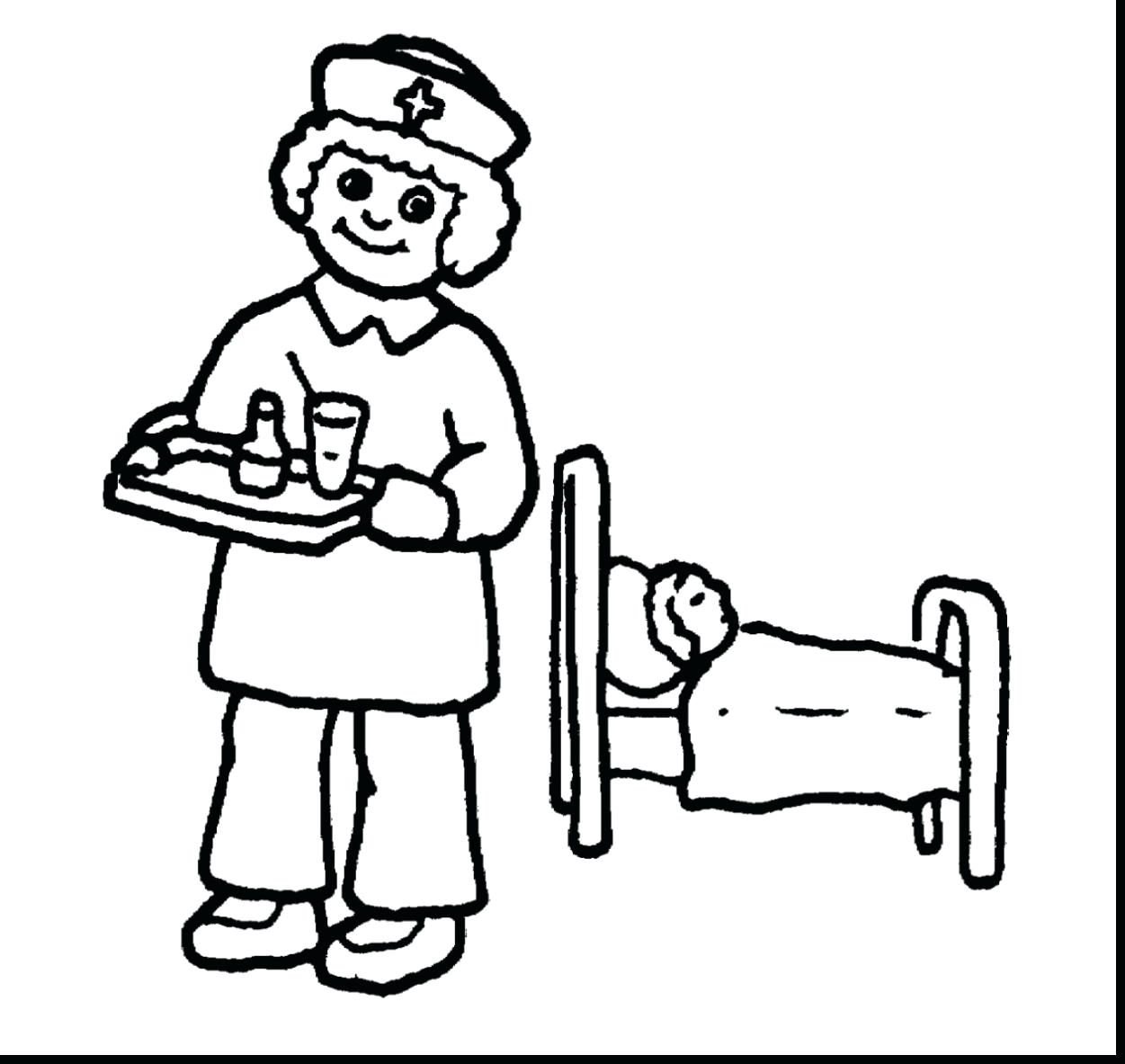 1251x1183 Coloring Pages Nurse Coloring Pages Brilliant Doctor And Nurses