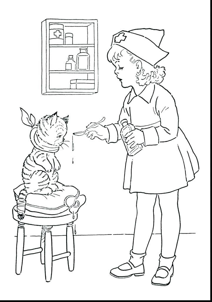 721x1024 Nursing Coloring Pages