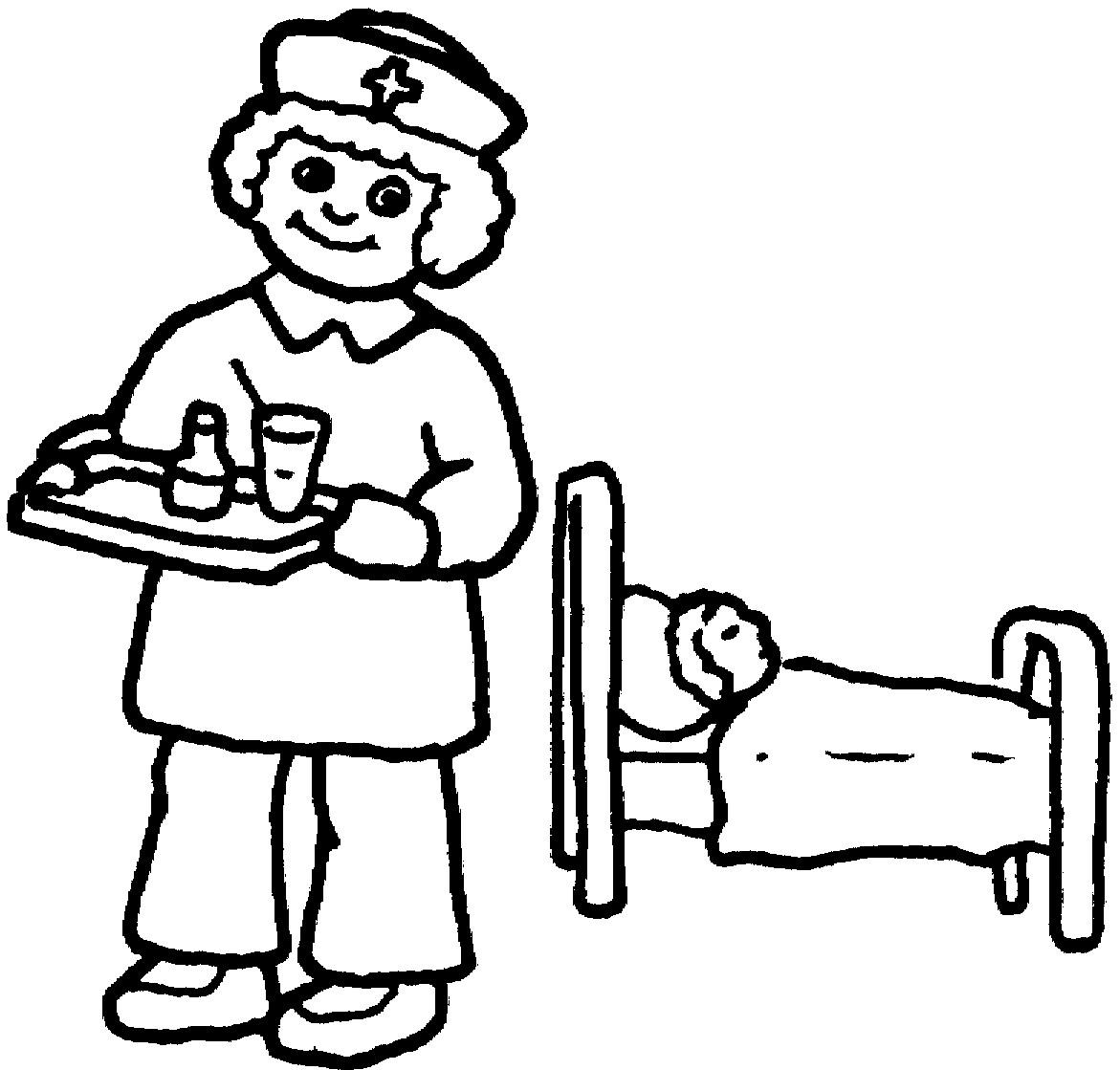 1171x1119 Nurse Coloring