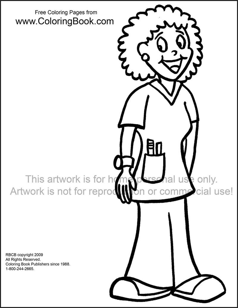 Nurse Coloring Pages For Kids at GetDrawings.com | Free for personal ...