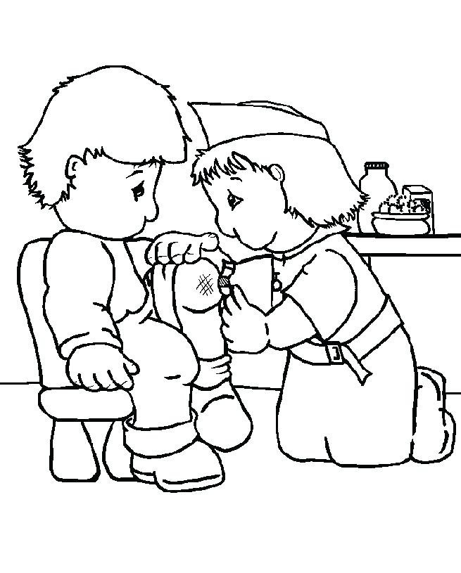 655x815 Nurse With Thermometer Coloring Page Color Book Male Nurse