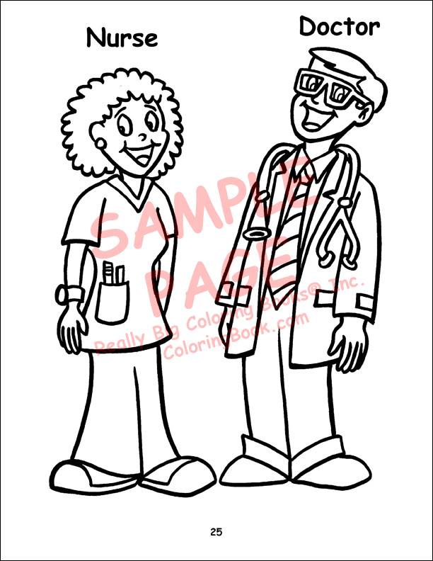 Nurse Coloring Pages For Kids At Getdrawings Com Free For Personal