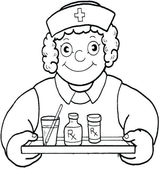 514x544 Nurse Coloring Page Nurse Coloring Nurse Coloring Pages