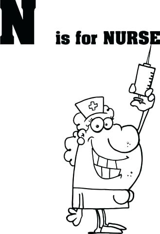 329x480 Nurse Coloring Pages Free School Printable Coloring Page Free