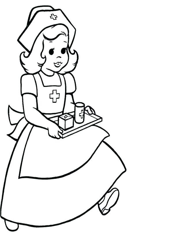 600x820 Nurse Coloring Pages Nurse Coloring Pages Careful Nurse Coloring