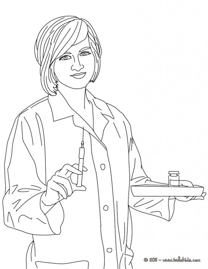 792x1024 Nurse Coloring Pages Print Hat Colouring Page Kindergarten