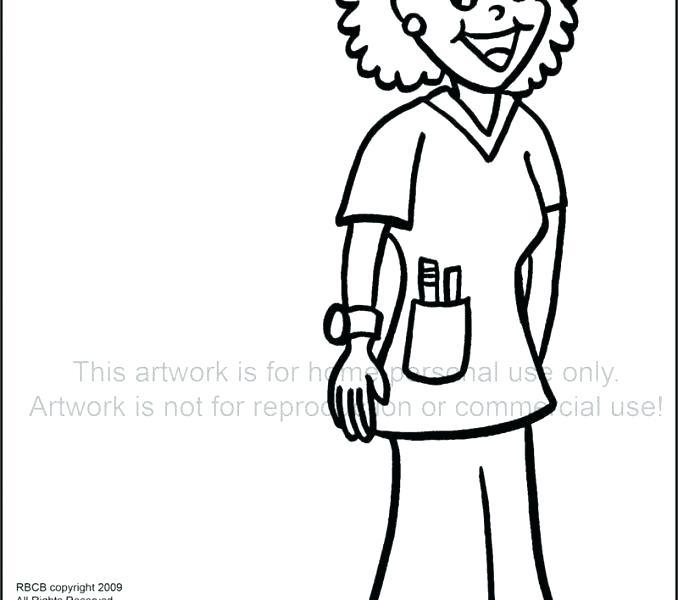 678x600 Nurse Coloring Pictures Nurse Coloring Page Hello Kitty Nurse