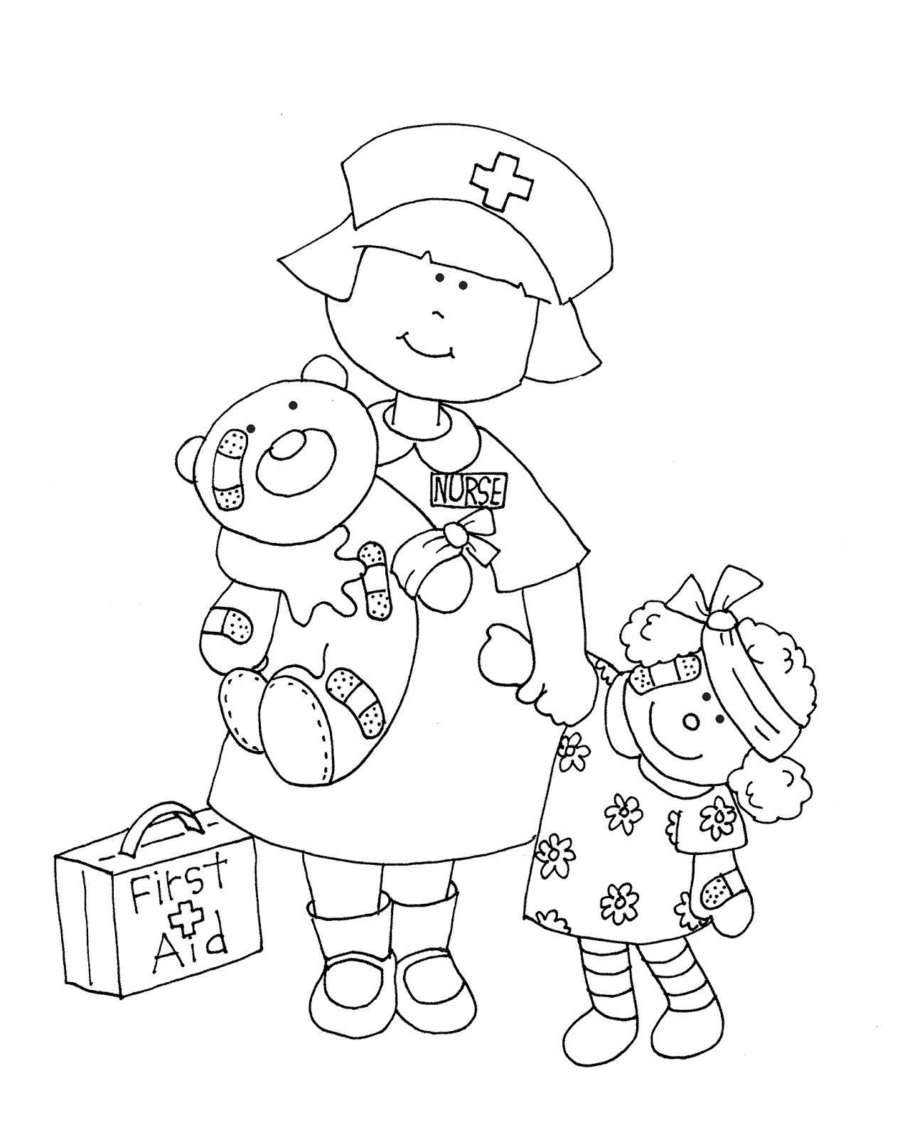1266x1600 Best Of Nurse Coloring Page Collection Printable Coloring Sheet