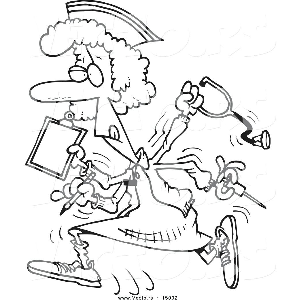 1024x1044 Coloring Pages Nurse Coloring Pages Vector Of A Cartoon